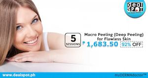 5 Sessions Of Macro Peeling Coupon For P1683 50 Available At Dealspot Till June 30 201681569 81569