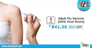 Adult Flu Vaccine Coupon For P841 50 Available At Dealspot Till June 30 2016 81574