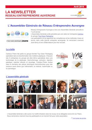 Newsletter Avril 2016 REA