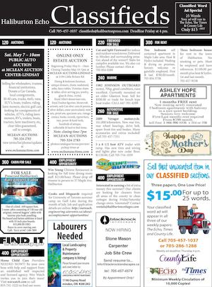 Classifieds May 3, 2016
