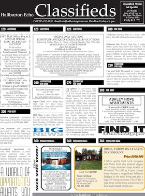 Classifieds May 10, 2016