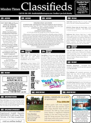 Classifieds May 12, 2016