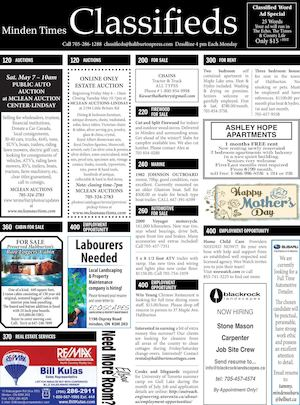 Classifieds May 5, 2016