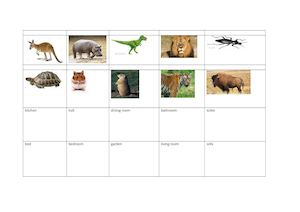 Animals Song Flashcards and rooms