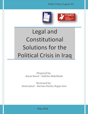 Kie Paper Legal And Constitutional Solutions For The Political Crisis In Iraq