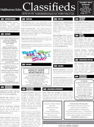 Classifieds May 17, 2016