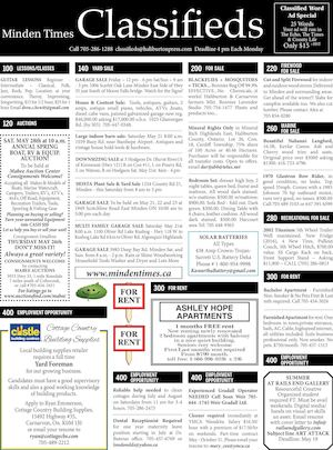 Classifieds May 19, 2016
