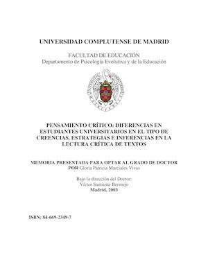 Calaméo - PENSAMIENTO CRÍTICO: DIFERENCIAS EN ESTUDIANTES ...