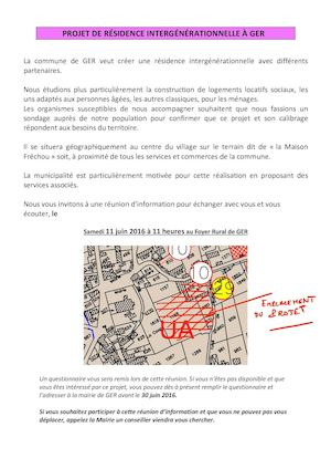 Flash Infos de la Commune de Ger - Mai 2016