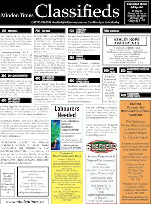 Classifieds May 26, 2016