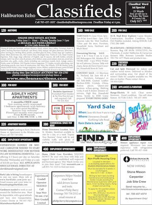 Classifieds May 31, 2016
