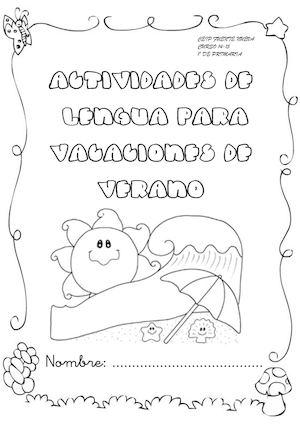 Calaméo - Cuadernillo de verano 1º Lengua
