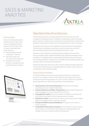 Axtria – Sales and Marketing Analytics Services