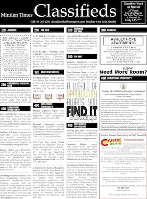 Classifieds June 9, 2016
