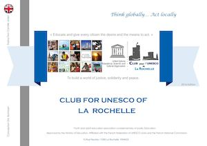 Brochure Edition 2016 Club UNESCO La Rochelle in english Finished