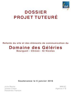 Calameo Gestion De Projet Tutore Domaine Des Geleries