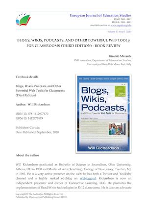 BLOGS, WIKIS, PODCASTS, AND OTHER POWERFUL WEB TOOLS FOR CLASSROOMS (THIRD EDITION) - BOOK REVIEW