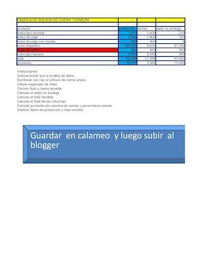 Calaméo - Clase 19 Unidad 2 Hoja De Trabajo En Excel ( Bolsos De ...