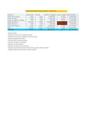 Calaméo - Clase 19 Unidad 2 Hoja De Trabajo En Excel ( Bolsos De Cuero)