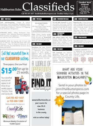 Classifieds July 19, 2016