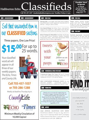 Classifieds July 26, 2016