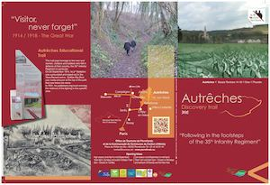 "Autrêches, Discovery trail, ""Following in the footsteps of the 35th Infantry Regiment (GB)"