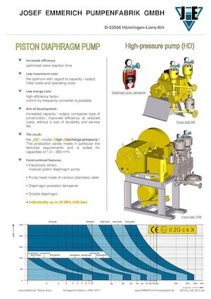 Emmerich Piston Diaphragm Pump