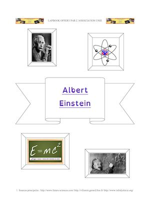 Lapbook Albert Einstein