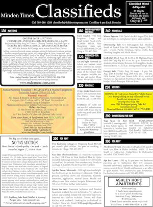 Classifieds August 25, 2016