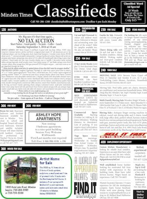 Classifieds September 1, 2016