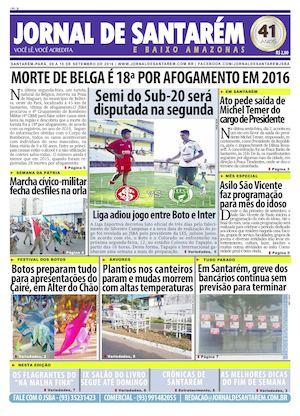 f2ad6bce94 JORNAL DE SANTARÉM E BAIXO AMAZONAS EDIÇÃO DE 09 A 15 DE SETEMBRO DE 2016