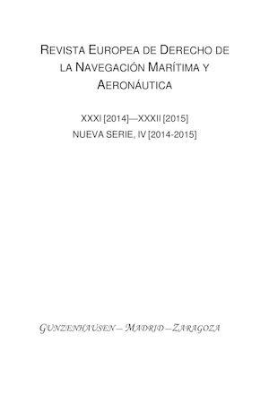 Calamo revista europea de derecho de la navigacion maritima y revista europea de derecho de la navigacion maritima y aeronautica malvernweather Gallery