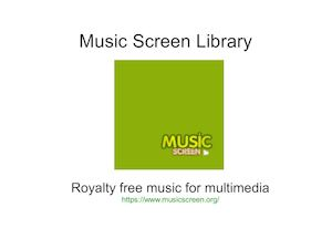 Music Screen: Royalty free music Library