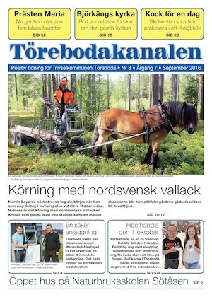 Web Torebodakanalen September 2016