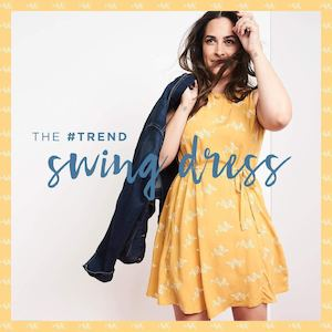 Slip On The Pintucked Swing Dress From Old Navy Pair It With A Denim Vest While Stocks Last 86110