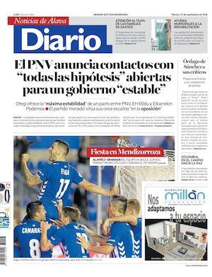 finest selection 66161 d8935 Diario de Noticias de Álava 20160927
