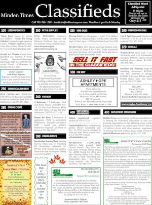 Classifieds September 22, 2016