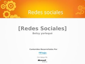 Redes Sociales Betsy