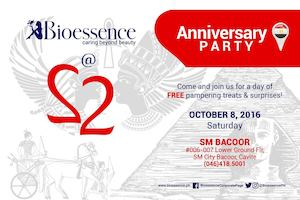 Enjoy Free Pampering Treats Surprises At Bioessence Bacoor Branch Anniv Party On October 8 2016 86422