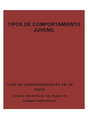 Cartilla tipos de comportamiento