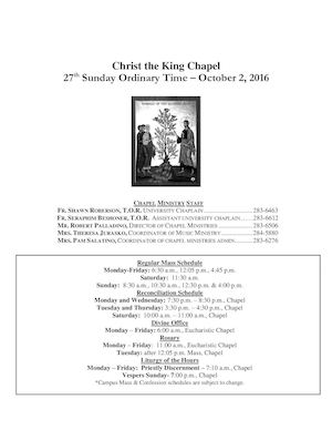 CTK Bulletin for the Week of 10-2-2016