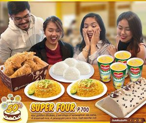 Enjoy Meals To Share With The Super Four Group Meal For Only P700 From Goldilocks 86448
