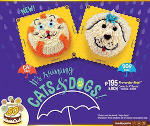 Pre Order These Adorable Cat Dog Cakes For Only P195 At Goldilocks 86450