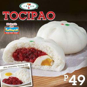Bite Into The Freshly Steamed Bun Filled With Funtastyk Young Pork Tocino Salted Egg From 7 Eleven 86462