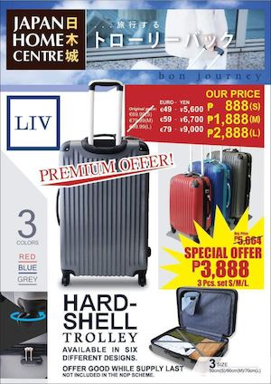 Get This Hard Shell Trolley Now For Only P3888 At Japan Home Centre While Stocks Last 86472