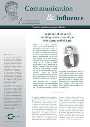 Communication & influence Septembre 2016 : Ali Laidi