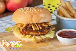 Have A Burger Like No Other With The Samurai Burger At Tokyo Bubble Tea Restaurant 86486