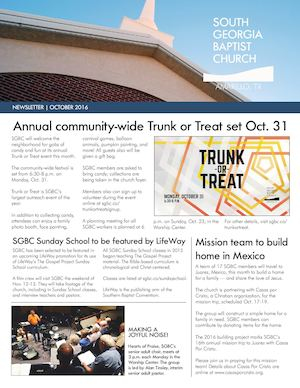 SGBC Newsletter | October 2016