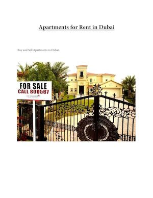 How to get Apartments For Rent In Dubai
