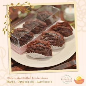 Order Chocolate Stuff Madeleines For P55pc P165box Of 3 P440 Box Of 8 At Early Bird Breakfast 86515